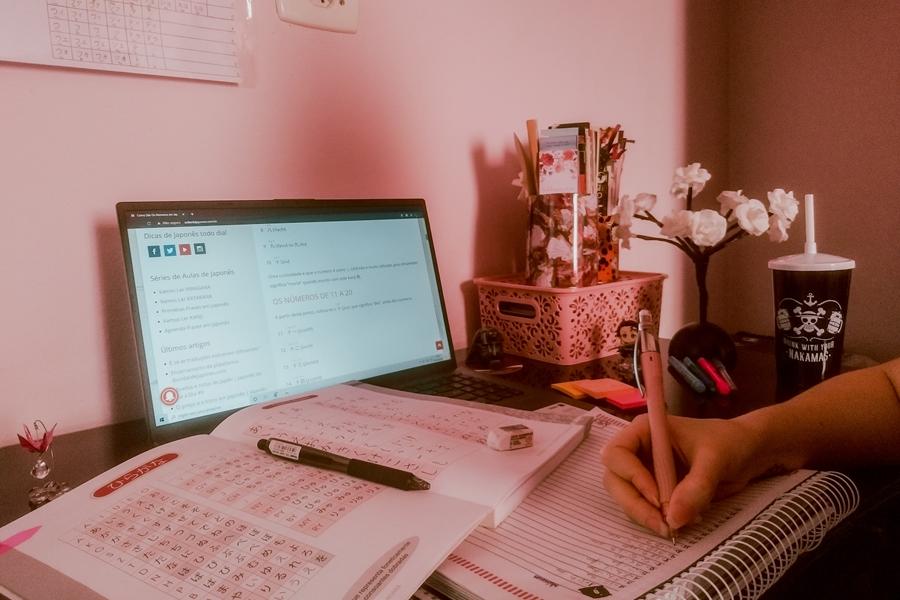 estudando japonês